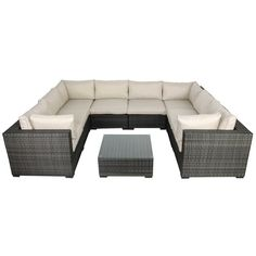 Creative Living South Hampton 9 Piece Sectional Seat Group with Cushions