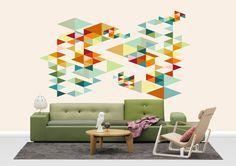 Retrospectra - Wall mural, Wallpaper, Photowall, Home decor, Fototapet, Valokuvatapetit