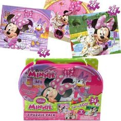 Disney Minnie 3pk Puzzle in Shaped Purse