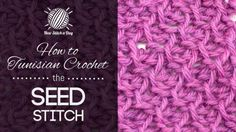 How to Tunisian Crochet -- New Stitch a Day
