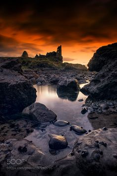 Scotland by aquanuke the best dancing lights are found in sunsets and sunrises... with every dark cloud, ray of sunshine breaks through