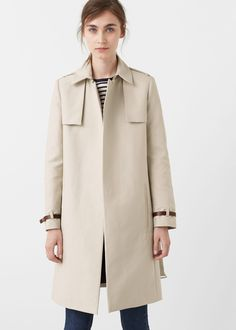 Classic cotton trench coat - Coats for Woman | MANGO USA