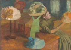 Degas, Edgar: The Millinery Shop. Fine Art Print/Poster. Sizes: A4/A3/A2/A1 (003767)