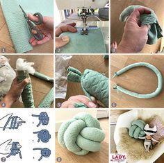 button ball button ball button button cushion button cushion knot pillow cussion diy make sew nursery nursery girl boy throw pillow pillow mint pattern self make Diy Home Crafts, Sewing Crafts, Sewing Projects, Diy Projects, Sewing Tips, Yarn Crafts, Knot Cushion, Knot Pillow, Throw Pillow