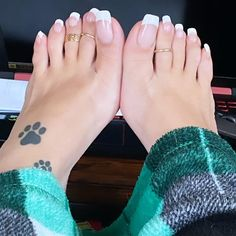 French Pedicure, Print Tattoos, Pedicures, Instagram, Strong, Pedicure, Toe Polish