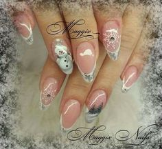 Christmas Nail Designs, Christmas Nails, French Manicure Nails, Winter Nails, Nail Art, Beauty, Facebook, Manicure Ideas, Christmas Manicure