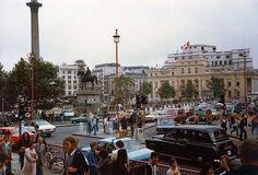 Trafalgar Square Charing Cross Central London England in 1981