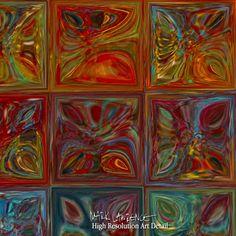 Painting Detail- Modern Tile Art | Tile Art #2, 2015. Modern Mosaic Tile Wall Art Painting
