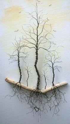 'The Beauty Beneath' - Copper Wire Trees. - 'The Beauty Beneath' – Copper Wire Trees… - Driftwood Crafts, Wire Crafts, Metal Crafts, Copper Crafts, Wire Art Sculpture, Tree Sculpture, Wire Sculptures, Sculpture Ideas, Metal Tree Wall Art