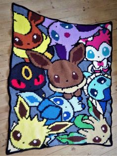 Your place to buy and sell all things handmade Pokemon Crochet Pattern, Crochet Blanket Patterns, Baby Blanket Crochet, Cross Stitch Patterns, Knitting Patterns, Pixel Crochet, C2c Crochet, Crochet Crafts, Yarn Projects