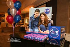 Bnai Mitzvah Display Bnai Mitzvah Seating Card Display with Blowup Photo & Logo Place Cards
