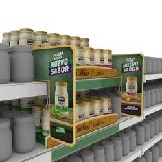Desarrollo de material POP para promocionar nuevos sabores de mayonesa Hellmans Supreme