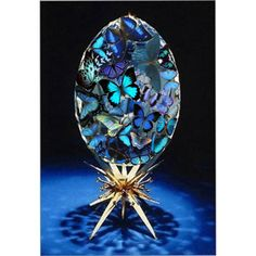 Blue Butterfly Faberge Egg, created by am-the-butterfly.polyvore.com