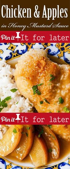 Chicken and Apples in Honey Mustard Sauce 25 mins to cook serves 4 ...
