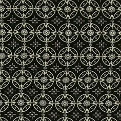 Chiffon off white/navy w tiles print - Stoff & Stil
