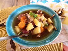 Zemiaková polievka s hubami Hummus, Cantaloupe, Fruit, Food, Essen, Meals, Yemek, Eten