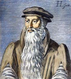 John Knox (1514-1572) was a Scottish clergyman and a leader of the Protestant Reformation who is considered the founder of the Presbyterian denomination in Scotland. When Mary Tudor ascended the throne and re-established Roman Catholicism, Knox was forced to leave the country. He moved to Geneva and there he met John Calvin, from whom he gained experience and knowledge of Reformed theology. On his return to Scotland he led the Protestant Reformation there.