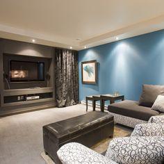 Un sous-sol confortable sera l'endroit par excellence pour les jeux vidéo ou les soirées cinéma