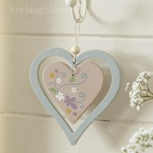 Hippy Chic Hanging Wooden Heart