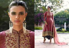 Maroon Designer Jodhpuri style Close neck anarkali Suit #dress