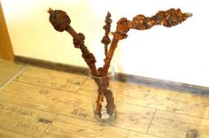 Wood burl set of 3 pieces Unique wooden tree by designfromthesea