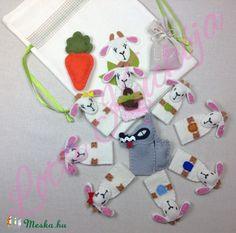 A hét kecskegida ujjbábkészlet, Játék, Baba-mama-gyerek, Báb, Készségfejlesztő játék, Meska