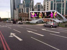 Fantastic colour #DOOH on @Outdoor_plus #96digital units at #VauxhallBridge - better than my telly!!