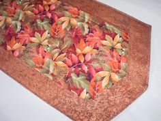 Quilted Runner Handmade Table Topper Red Orange by Love2quilt