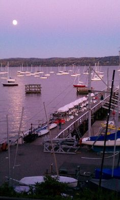 Nyack Boat Club along the Hudson River ...my view back in the late 60's.