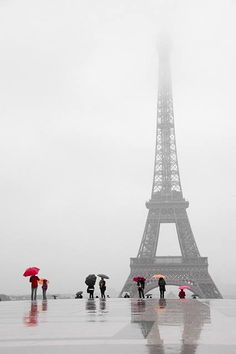 Even in the rain ~ we want to visit the amazing Eiffel Tower, Paris