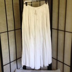 Long white cotton skirt.  Perfect for hot summer. Super cool, long white skirt.  Perfect for those hot summer days.  Cool and comfortable and versatile. Bundle some items and get a discount on already low prices. Skirts