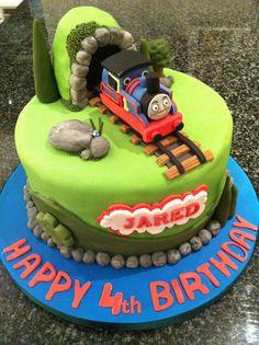 4th Birthday Thomas Cake.