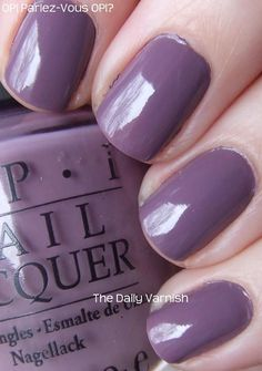 This is a great combination of grey and purple. Parlez-Vous OPI?