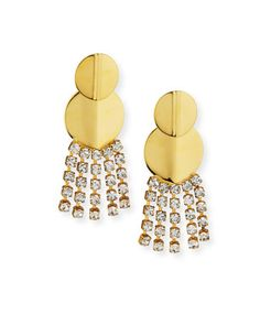 Imperial City Crystal Chain Earrings by Lizzie Fortunato at Neiman Marcus.