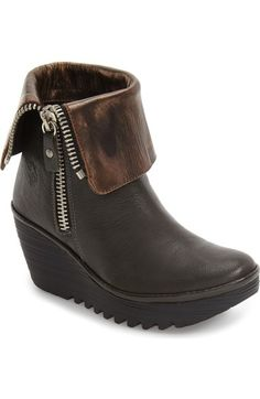 9d2753bc5d7 Fly London  Yex  Platform Wedge Bootie (Women) available at  Nordstrom Fly