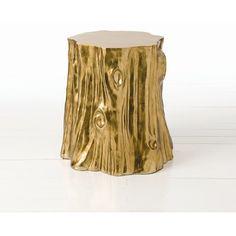 ARTERIORS Home Subin Stump Table in Golden Foiled Coffee