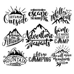 outdoor bundle svg cut file files decal outdoor