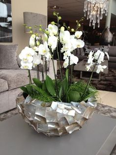The Netherlands / Barendrecht / Show Room / Living Room / Kenze / Vace / Cravt /. The Netherlands / Barendrecht / Show Room / Living Room / Kenze / Vace / Cravt / Kenze Wonen / Eric Kuster / Vases Decor, Plant Decor, Living Room Interior, Living Room Decor, Orchid Flower Arrangements, Luxury Living, Home Decor Accessories, Indoor Plants, Interior And Exterior