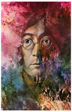 A great psychedelic-style portrait poster ofJohn Lennon of the Beatles! Portraitsof the other 3Beatles are also available so you can own all 4! Ships fast. 1