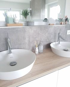 Our bathroom was planned and implemented and very sto …- Unser Badezimmer 🛁… - Beleuchtung Ensuite Bathrooms, Small Bathroom, Master Bathroom, Bathroom Interior, Bathroom Inspiration, Kitchen Decor, Sink, Sweet Home, New Homes