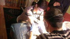 Star01 tattoo session