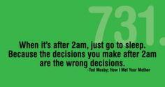 how many decisions do you make at 2am?  (GO GO Saveetheink.com)