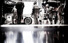 Porsche 919 Hybrid, Porsche Team: Timo Bernhard, Brendon Hartley, Mark Webber during practice for the Le Mans 24 Hour race at the Circuit de...