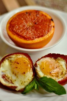 Baked Egg Tomato Bacon Cups | reluctantentertainer.com