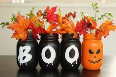 Halloween Decor,Halloween Mason Jar,Halloween Table Decor,Fall Decor,Halloween Decorations,Table centerpiece,Rustic Home Decor