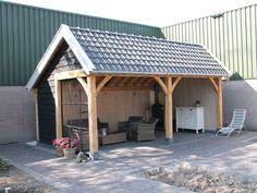 Diy Outdoor Kitchen, Outdoor Rooms, Outdoor Living, Outdoor Buildings, Garden Buildings, Pergola Patio, Backyard Patio, Pool Shed, Bar Shed