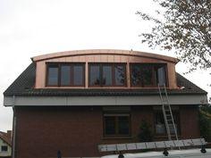 Segmentbogengauben - SPS Gauben Loft Conversion Design, Cabin, House Styles, Dormer Windows, Arch, House, Cabins, Cottage, Wooden Houses