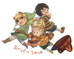 鈍足ライナー - Toon Link, Ness, & Lucas