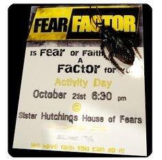 fear factor invitations