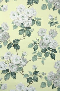 I think these gray roses are just dreamy. A pretty vintage wallpaper for sure